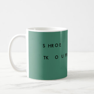 Steno SLOW DOWN 11 oz mug (green) SHROE TKOUPB