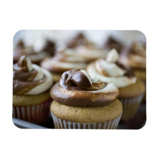 Step by step photos of peanut butter cupcakes rectangular photo magnet