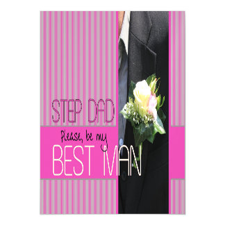 Step Dad  Please be best man - invitation Magnetic Invitations