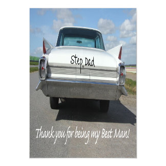 Step Dad  thank you best man - invitation Magnetic Invitations