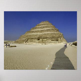 Step pyramid at Saqqara, one of the earliest Poster