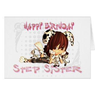 Step Sister birthday card Moonies cutie pie kitten