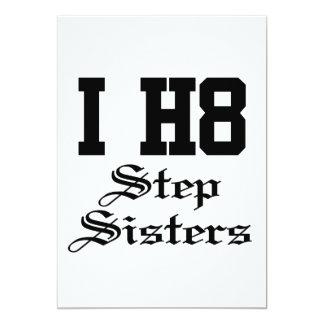 step sisters 13 cm x 18 cm invitation card
