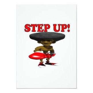 Step Up 13 Cm X 18 Cm Invitation Card