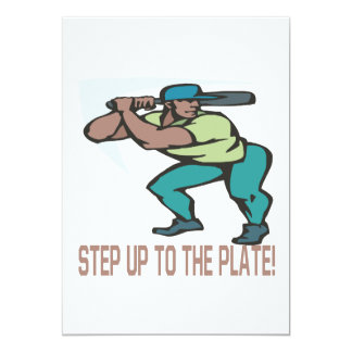 Step Up To The Plate 13 Cm X 18 Cm Invitation Card