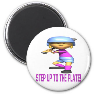 Step Up To The Plate 6 Cm Round Magnet