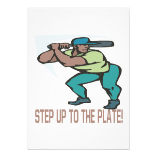 Step Up To The Plate Personalized Invitations