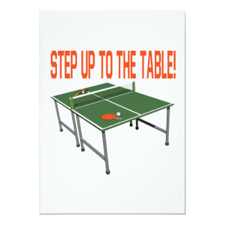 Step Up To The Table 13 Cm X 18 Cm Invitation Card