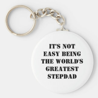 Stepdad Basic Round Button Key Ring