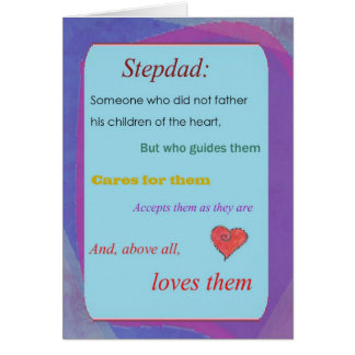 Stepdad Father's Day card