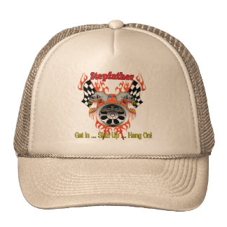Stepfather Racing Father's Day Gifts Trucker Hats