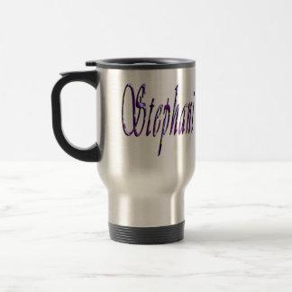 Stephanie, Name Logo, Travel Mug