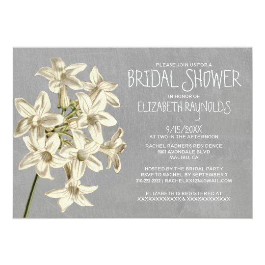 Stephanotis Bridal Shower Invitations