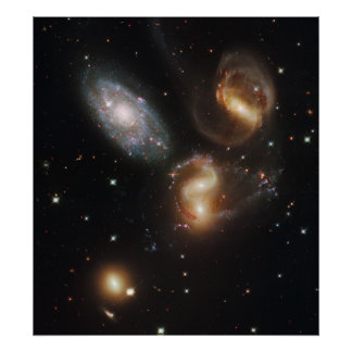 Stephan's Quintet Hickson Compact Group 92 Poster