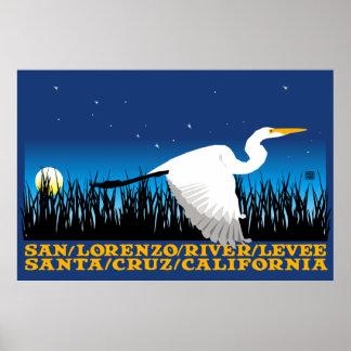 Stephen Hosmer's San Lorenzo River Levee Poster