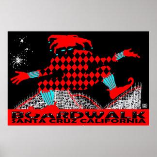 Stephen Hosmer's Santa Cruz Boardwalk Jester Poster