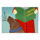 "Stephen Huneck ""Christmas Caroling"" Greeting Card"