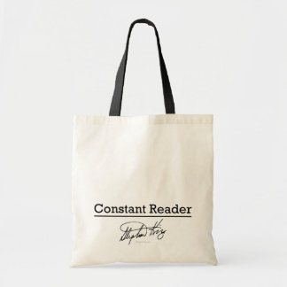 Stephen King, Constant Reader Budget Tote Bag