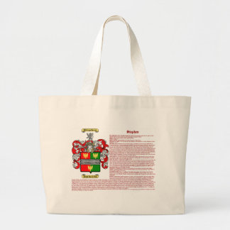 Stephen (meaning) large tote bag