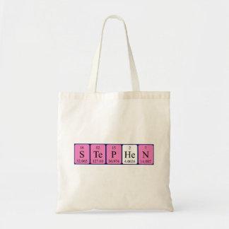 Stephen periodic table name tote bag