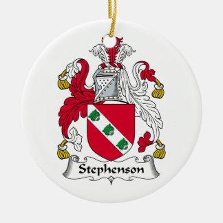 Stephenson Family Crest Ceramic Ornament