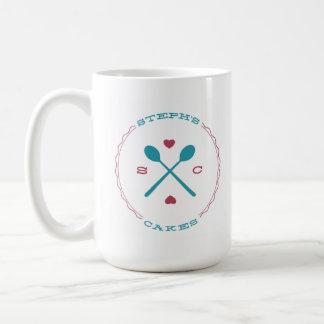 Steph's Cakes classic white logo coffee mug 15oz