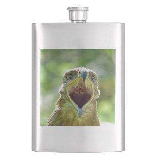 Steppe Eagle Head 001 2.1 Hip Flask