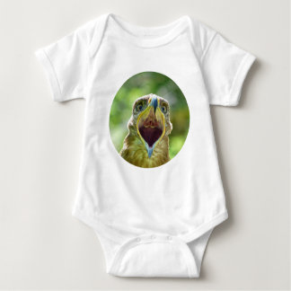 Steppe Eagle Head 004 01rd, screaming Baby Bodysuit