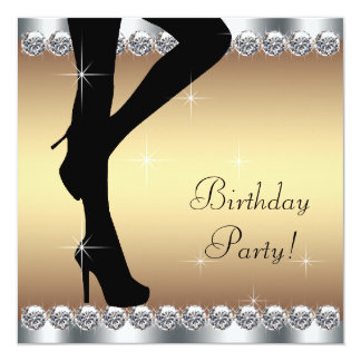 Stepping Into Birthday Party 13 Cm X 13 Cm Square Invitation Card