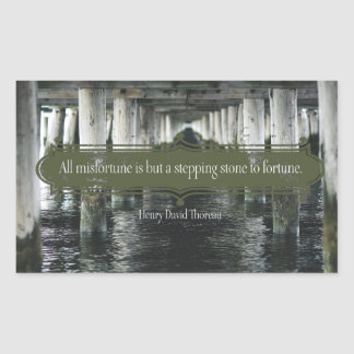 Stepping Stone To Fortune Rectangular Sticker