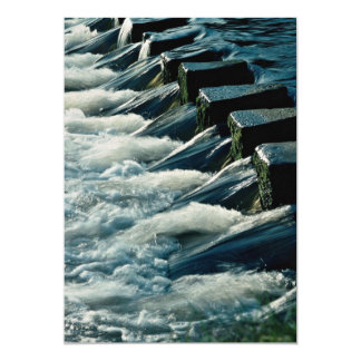 Stepping stones across river, IIkley, West Yorkshi 13 Cm X 18 Cm Invitation Card
