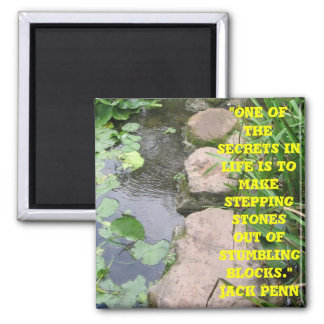 stepping stones from stumbling blocks square magnet