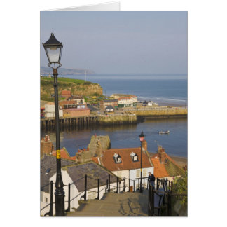 Steps leading down to the harbour, Whitby, North Card