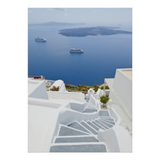 Steps of Santorini Poster