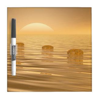 Steps on the ocean - 3D render Dry Erase Board