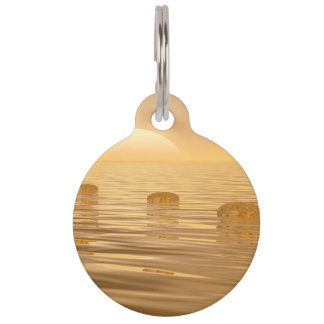 Steps on the ocean - 3D render Pet ID Tag