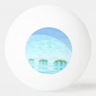Steps on the ocean - 3D render Ping Pong Ball