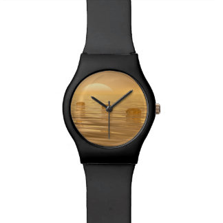 Steps on the ocean - 3D render Wristwatches