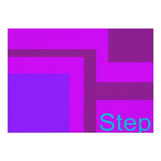 Steps Purple Munsell Custom Invitations