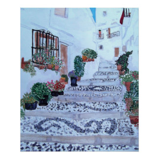 Steps The Old Town Frigiliana Poster