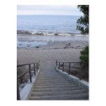 steps to the beach postcards