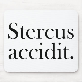 Stercus accidit mouse pad