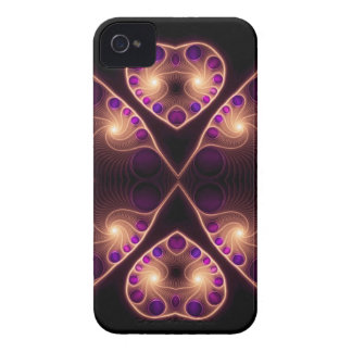 Stereo Love Gold Heart Fractal iPhone 4 Cover