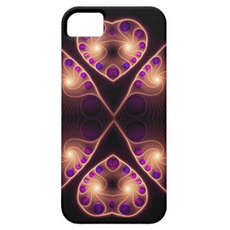 Stereo Love Gold Heart Fractal iPhone 5 Case