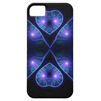 Stereo Love Heart Fractal Purple Barely There iPhone 5 Case