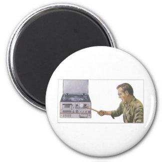 Stereo Smash 6 Cm Round Magnet