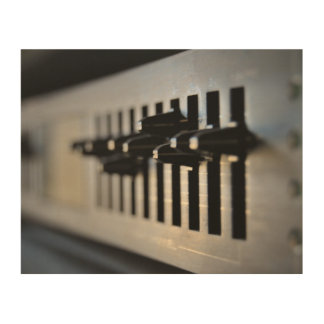 Stereo Sound | Premium Wrapped Canvas Wood Wall Art