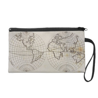 Stereographic Map Wristlet Purses