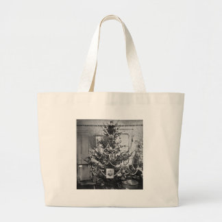Stereoview Christmas Tree Victorian 1800s Vintage Bag