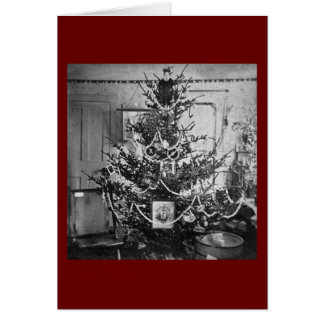 Stereoview Christmas Tree Victorian 1800s Vintage Card